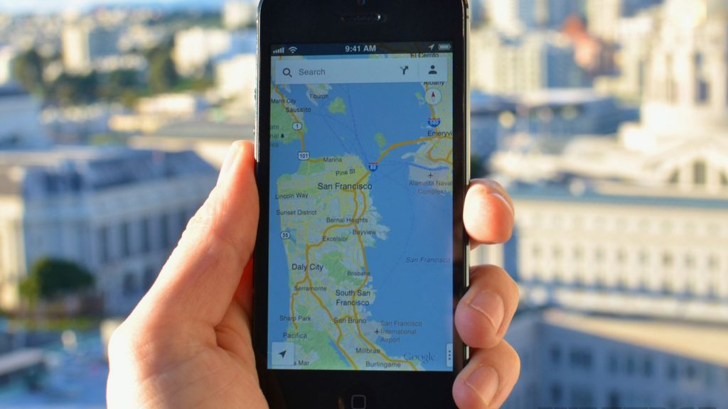 Google Maps sur phablette iPhone